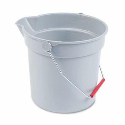 - Rubbermaid 2963 Brute Round 10 Quart Utility Bucket, Gray (RCP296300GY)