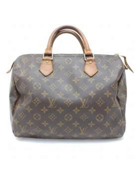 48cc6b2bc6e0 Product Image PRE-OWNED Speedy Monogram 30 869383 Brown Coated Canvas  Satchel. Louis Vuitton