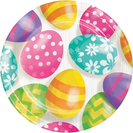Creative Converting Easter Eggs Dessert Plates, 8 ct