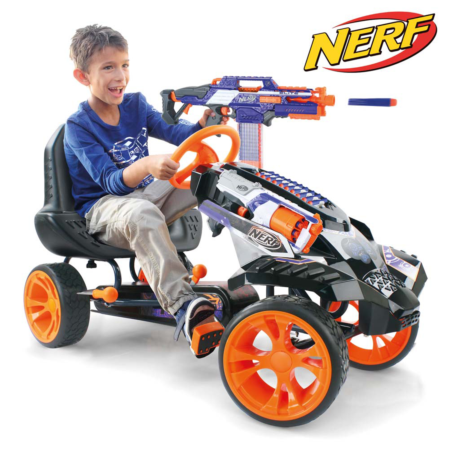 Nerf Battle Racer Ride-On Pedal Go-Kart by Hauck