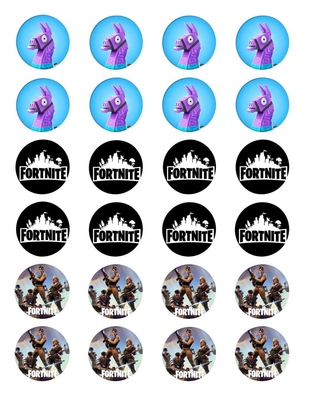 Fortnite Logo Loot Llama Various Skins Edible Cupcake ...