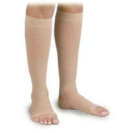 - Activa H4401 Surgical Weight Unisex Open Toe Knee Highs 30-40 mmHg - Size & Color- Small Beige