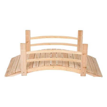 Bridge End Garden (Shine Company 4 Ft. Cedar Garden Bridge - Natural)