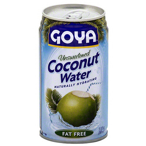 Goya Unsweetened Coconut Water, 11.8 fl oz, (Pack of 24)