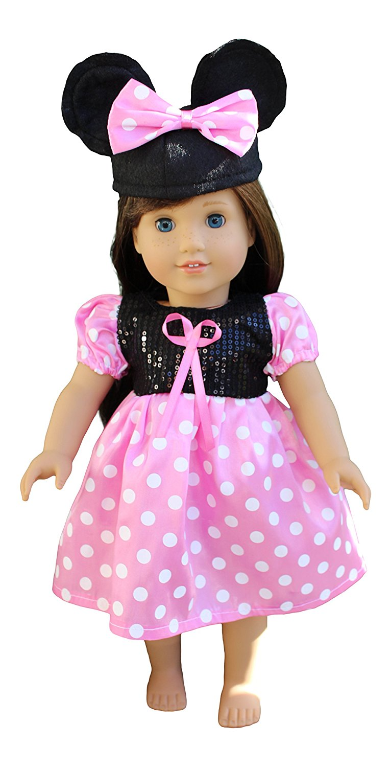 In-Style Doll Clothes for American Girl Dolls, Outfits, 18-Inch, Disney Minni Mouse, Fits... by In-Style Doll Clothes