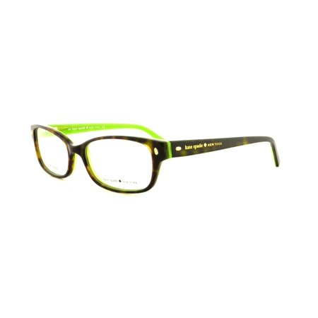KATE SPADE Eyeglasses LUCYANN 0DV2 Tortoise Kiwi (Eyeglasses Sale Online)