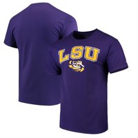 LSU Tigers Russell Athletic Crew Core Print T-Shirt - Purple