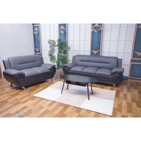 Zebra Grey and Black 2pc Living room set