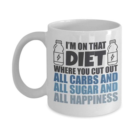 I'm On That Diet Fitness Coffee & Tea Gift Mug For Fit Mom, Trainer, Best Friend & Health Conscious Men &
