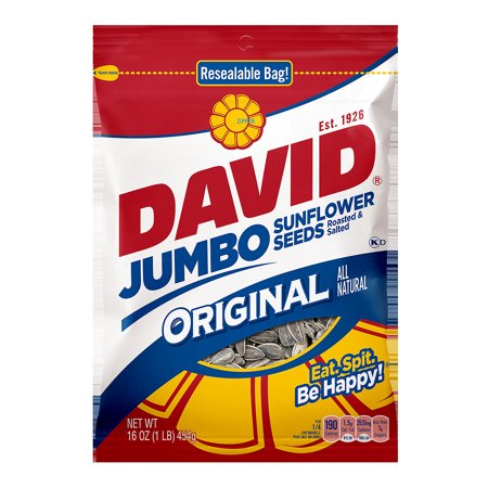 David All-Natural Original Roasted & Salted Jumbo Sunflower Seeds 16 (Calories In 1 4 Cup Sunflower Seeds)