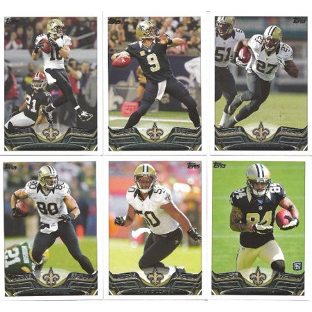 New Orleans Saints 2013 Topps Complete Regular Issue 14 Card Team Set with Drew Brees, Jimmy Graham, Kenny Vaccaro Plus, New Orleans Saints 2013 Topps.., By Strictly Mint Card Co Ship from US