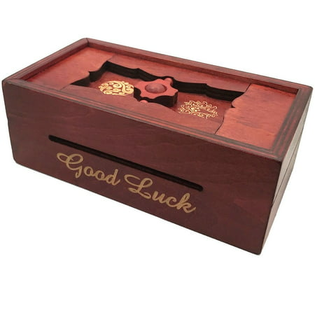 Good Luck Secret Puzzle Box - Money and Gift Cards Trick Box Purple Gift Card