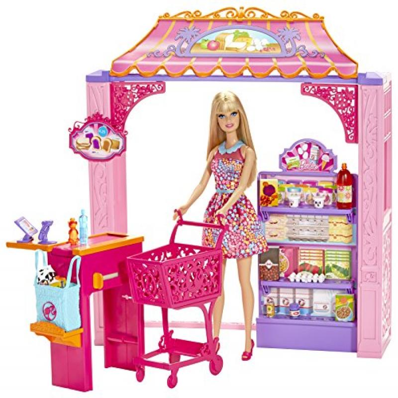 Mattel Barbie Life in The Dreamhouse Grocery Store and Doll Playset