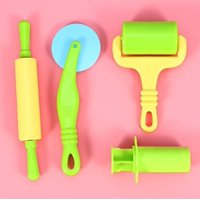 20Pcs Colorful Play Doh Kits Smart Plasticine Dough Tools for Children To Play Games