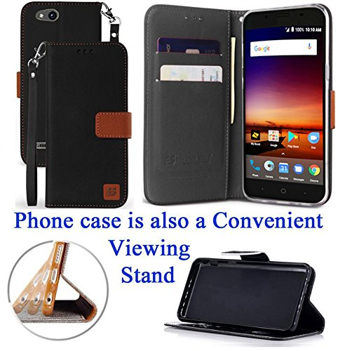 """for 5"""" ZTE zFive G zFive C Tempo X Tempo GO Case Phone Case Hybrid Fold Wallet Kick Stand Pouch Card Pocket Purse Grip Grained Screen Flip Cover White Rose"""