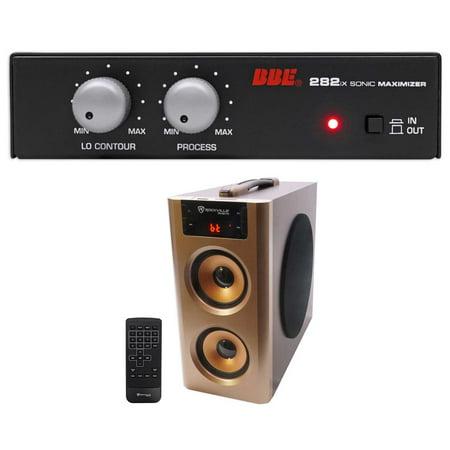 BBE 282IX Desktop Sonic Maximizer w/XLR Inputs/Outputs + Free Bluetooth Speaker - Maximizer Portable Bar