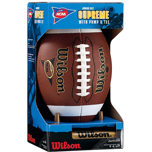 Wilson NCAA Supreme Junior Football with Pump and Tee