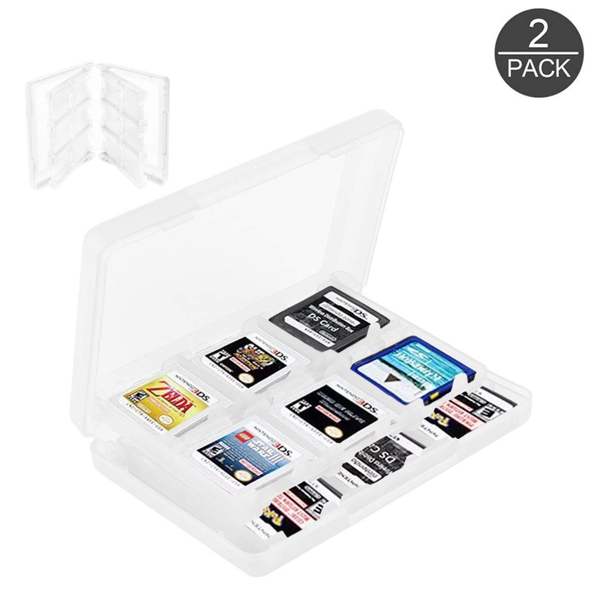 2 Pack 28 In 1 Game Card Case Holder For Nintendo 3ds Xl 3ds Ds