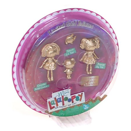 Mini Gold Edition 3 Pack: Crumbs Sugar Cookie, Peanut Big Top & Squirt Lil' Top, Age group: 4 - 8 yrs. By Lalaloopsy - Lalaloopsy Baby Crumbs