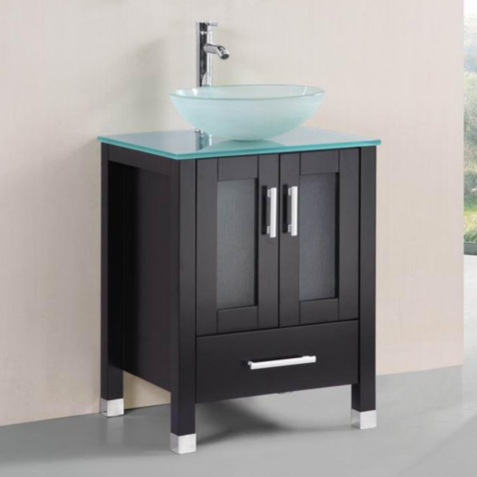 Belvedere 24 in. Tempered Glass Single Bathroom Vanity by Belvedere Bath LLC