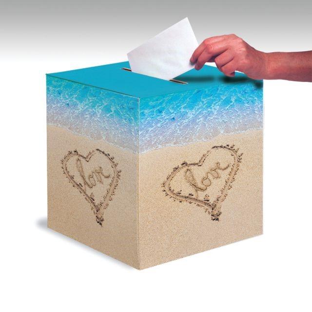 "Image of Access Beach Love Card Box, 12"", 1 Ct"