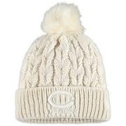 Chicago Bears New Era Women's Flurry Cuffed Knit Hat with Pom - Cream - OSFA