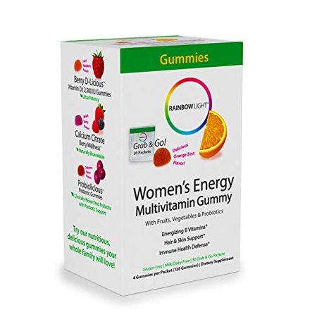Rainbow Light Women's Energy Multivitamin Dietary Supplement Gummies - Orange Zest -