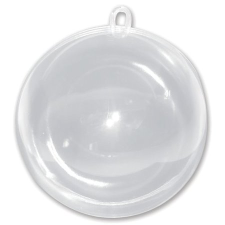 Darice Hanging Ball Ornament, Clear - Clear Plastic Balls