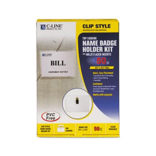 C-Line Clip Style Badge Holder Kit CLI95523