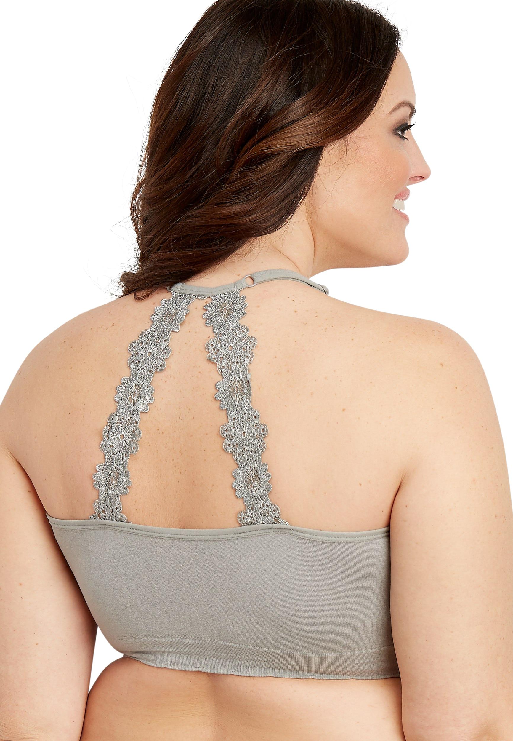 Plus Size Seamless Crochet Back Bralette