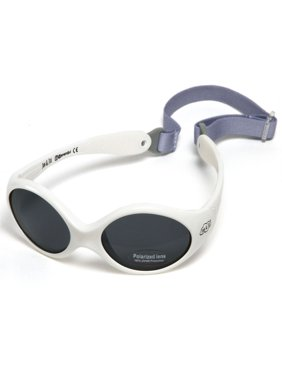 Baby Toddler Sunglasses With Strap 100% UV Block (S: 6- 24 months, Cool White)