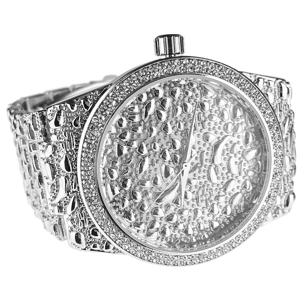 SIZE 8 MENS SQUARED OFF  STYLE NUGGET BLING BLING RING STYLE 2