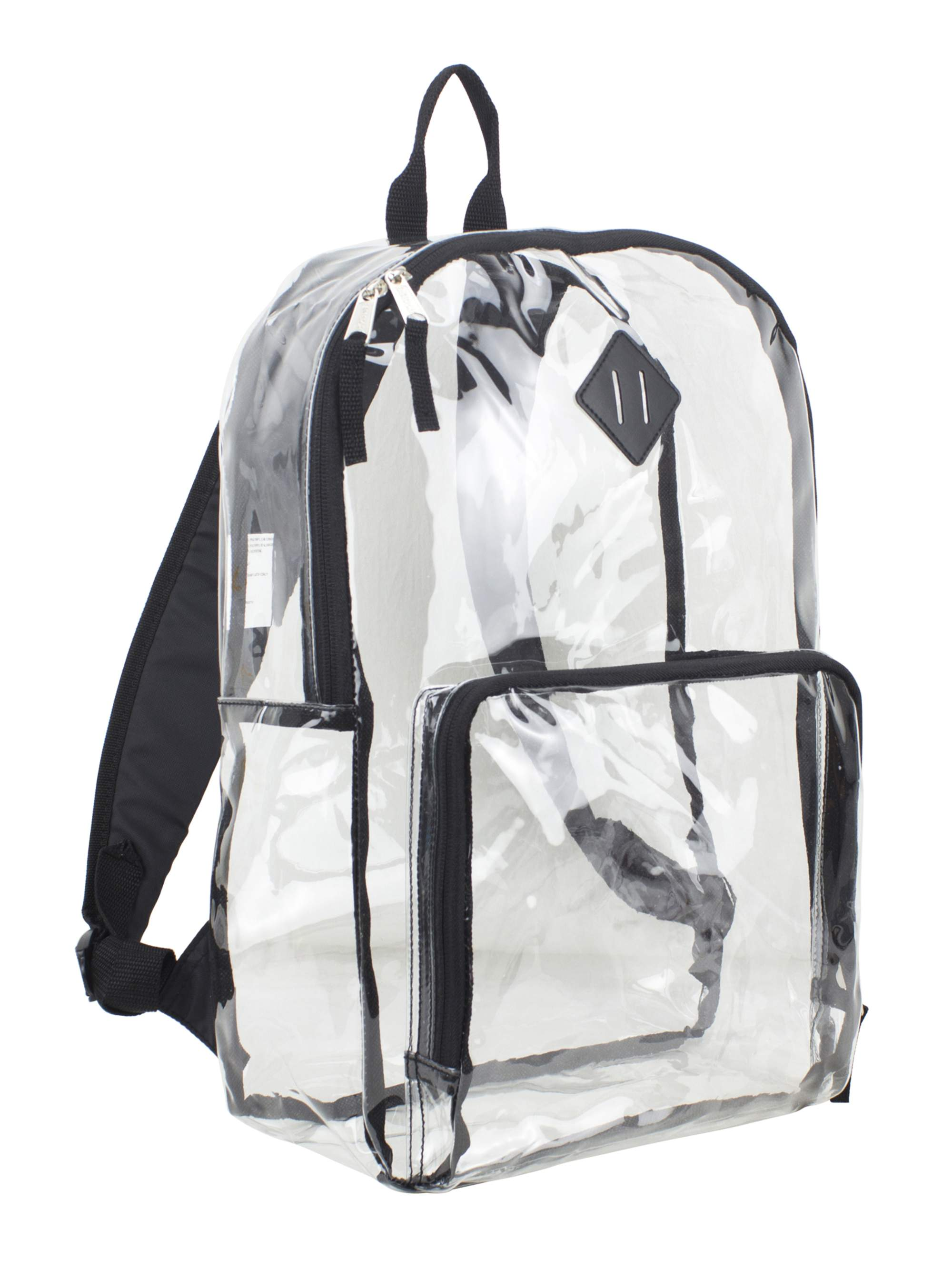 Eastsport Multipurpose Clear Backpack with Front Pocket, Adjustable Straps and Lash Tab by Generic