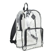 Eastsport Multi-Purpose Clear Backpack with Front Pocket, Adjustable Straps and Lash Tab