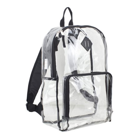 Eastsport Multi-Purpose Clear Backpack with Front Pocket, Adjustable Straps and Lash (Best Backpacks Brands List)