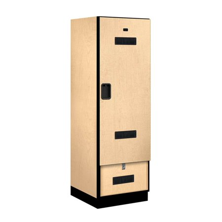 Designer locker in maple finish Designer lockers