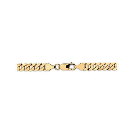 6.1 mm 14k Yellow Gold Classic Curb Chain Bracelet - 8 Inch