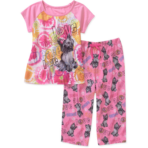 Girls - Graphic Tee and Pants 2 Piece Pajama Set