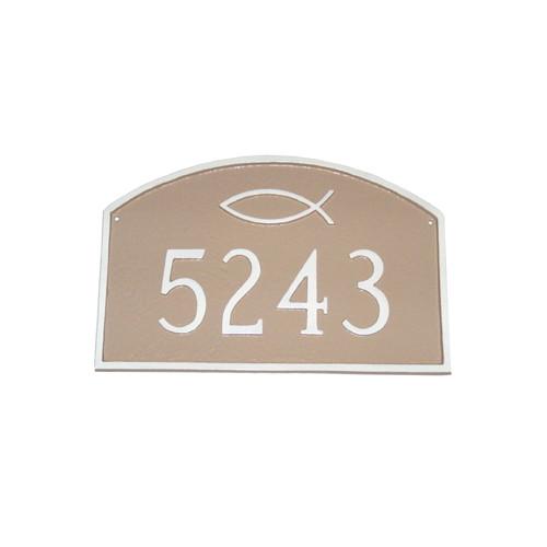 Montague Metal Products Inc. Estate Icthus Prestige Arch Address Plaque