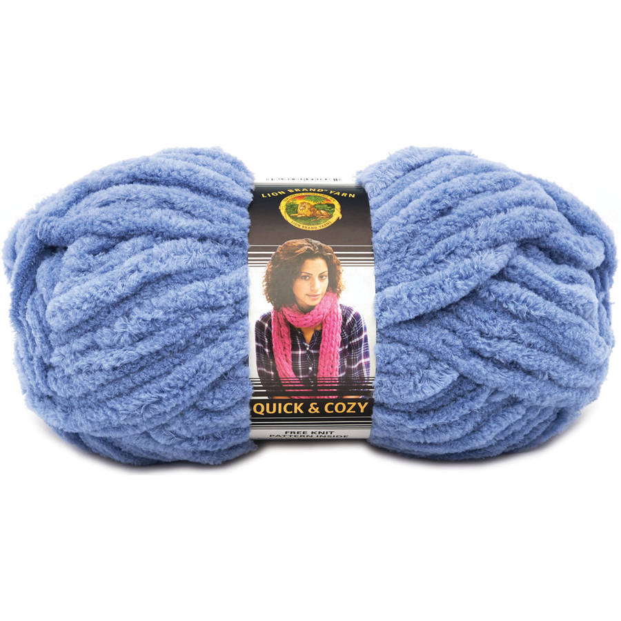 Lion Brand Quick and Cozy Yarn, Available in Multiple Colors