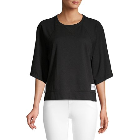 Wide Sleeve Knit Top Calvin Klein Long Sleeve Pullover