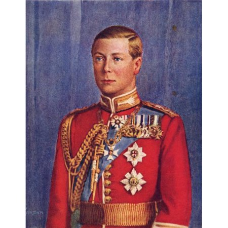 1936 Replica Sky King - Edward VIII, 1894 to 1972 King of The United Kingdom & Emperor of India From His Majesty King Edward VIII Published 1936 Poster Print, 12 x 16