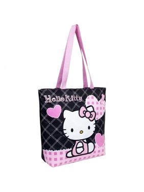 d34e56b43668 Product Image Hello Kitty Quilt Black Heart Tote Bag  81587