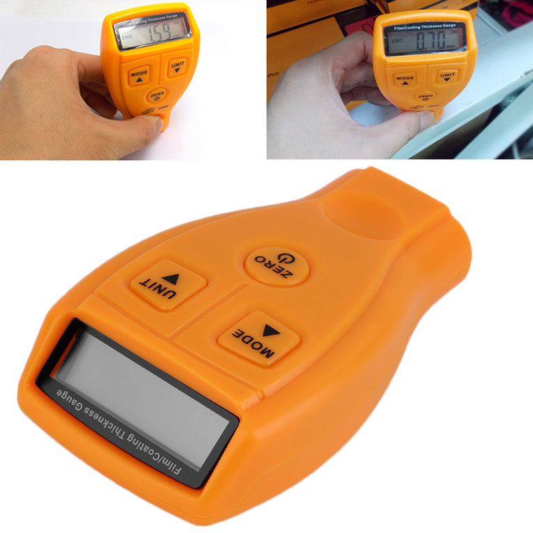 Digital Automotive Coating Ultrasonic Paint Iron Thickness Gauge Meter Tool by