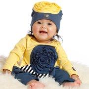 Baby Girls Blueberry Flower Amaya Tunic Leggings Outfit 9M