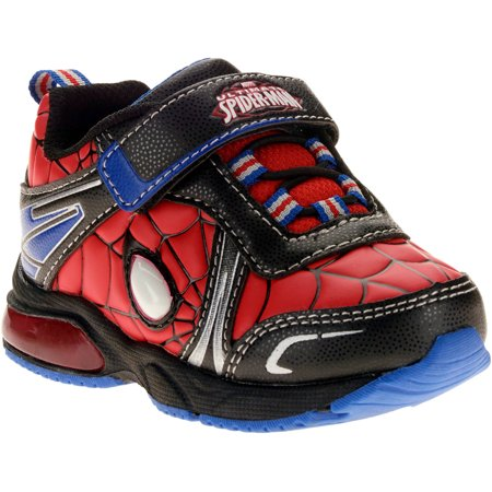 cec62fb466ccb5 Spider-Man - Toddler Boys Lighted Athletic Shoe - Walmart.com