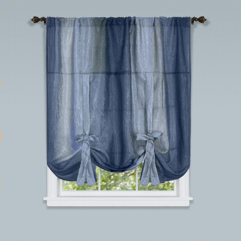 Assorted Colors 2 Pack Burgundy GoodGram Semi Sheer Ombre Chic Grommet Curtain Panels