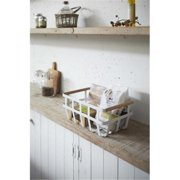 YAMAZAKI home 2507 8.7 x 14 in. Tosca Storage Basket - White