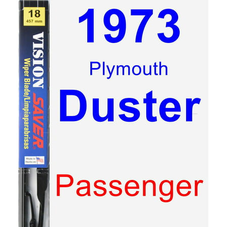 1973 Plymouth Duster Passenger Wiper Blade - Vision (1973 Plymouth Duster)