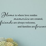 Belvedere Designs LLC Home Is Where Love Resides Wall Quotes  Decal